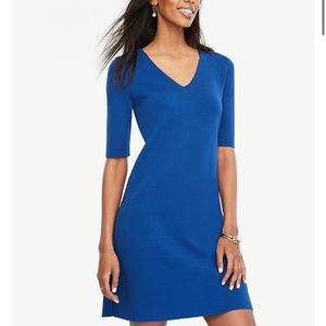 NWT Ann Taylor V-Neck Sweater Dress Size M Petite